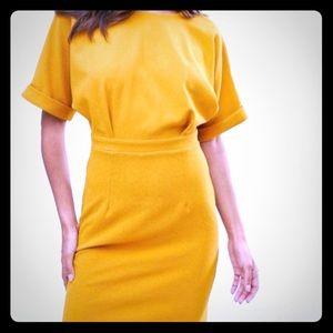 ASOS dress mustard yellow